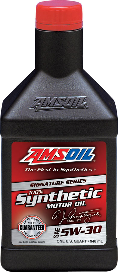 Amsoil sae 5w 30 signature series 100 synthetic motor oil for Best motor oil in the world